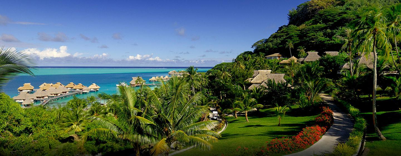 Hôtel Hilton Bora Bora Nui Resort & Spa, Polynésie française - Vue sur le lagon depuis le spa