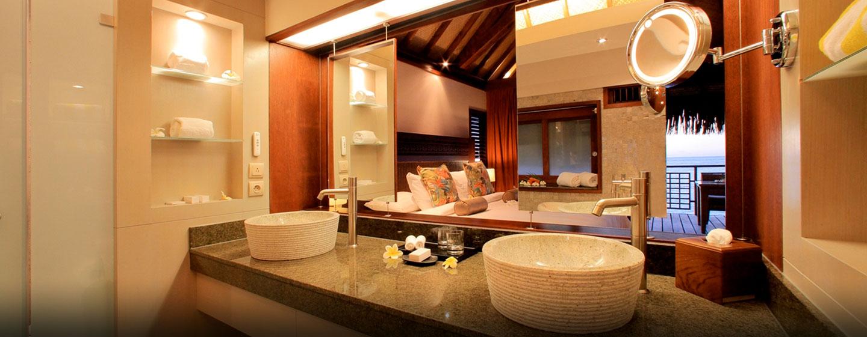 Hôtel Hilton Moorea Lagoon Resort & Spa, Polynésie française - Salle de bains moderne