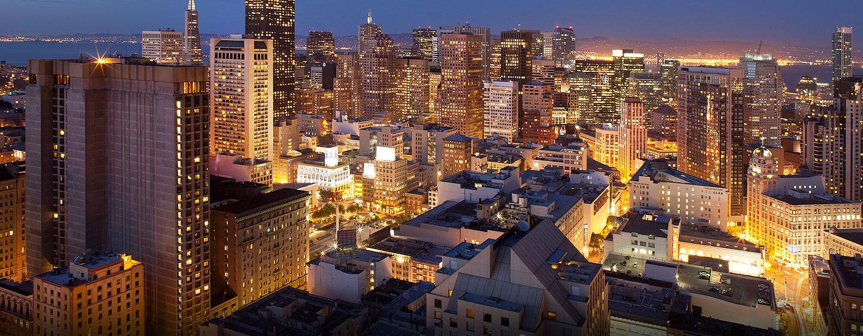 Hôtel Hilton San Francisco Union Square - Vue de San Francisco, au crépuscule