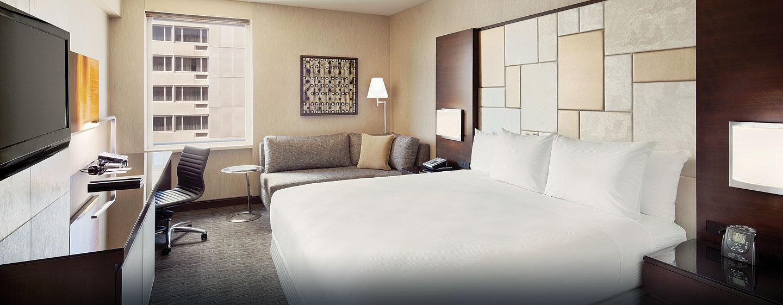 Hôtel Hilton San Francisco Union Square, CA - Chambre avec très grand lit