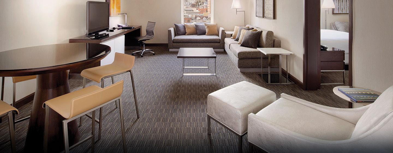 Hôtel Hilton San Francisco Union Square, CA - Salle de séjour d'une suite