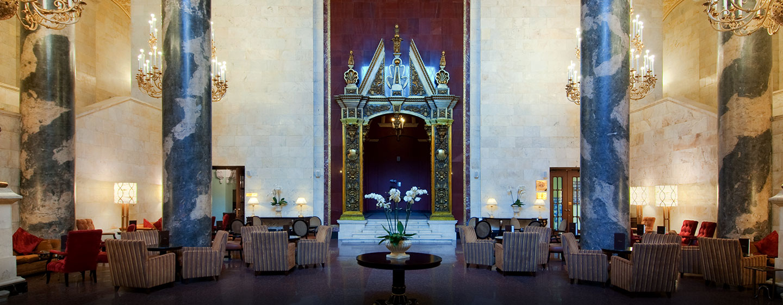 Hôtel Hilton Moscow Leningradskaya, Russie - Somptueux hall