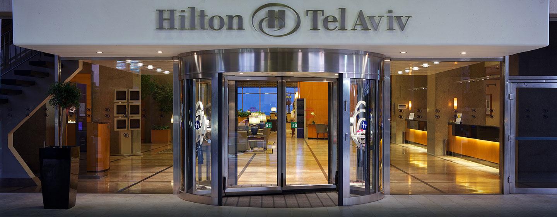 Hilton Tel Aviv, Israël - Entrée principale de l'hôtel