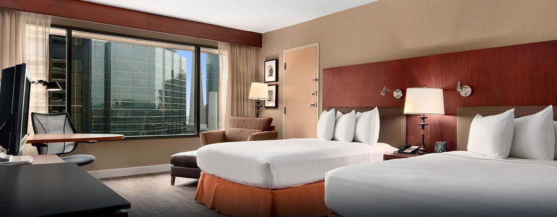 Hôtel Hilton Toronto, Canada - Chambre de luxe avec deux lits doubles