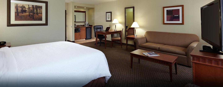 Hôtel Hampton Inn & Suites by Hilton Montreal-Dorval, QC, Canada - Suite Studio avec très grand lit