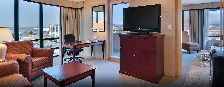 Hôtel Hilton Vancouver Airport, CB, Canada - Suite d'angle de luxe