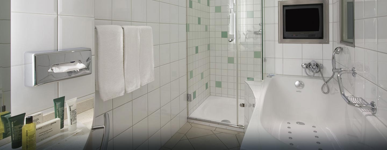 Hôtel Hilton Zurich Airport, Suisse - Salle de bains d'une chambre Relaxation