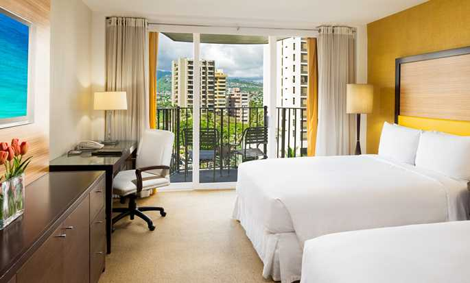 Hilton Waikiki Beach hotel, Hawaii, U.S. - Double Room Mountain View