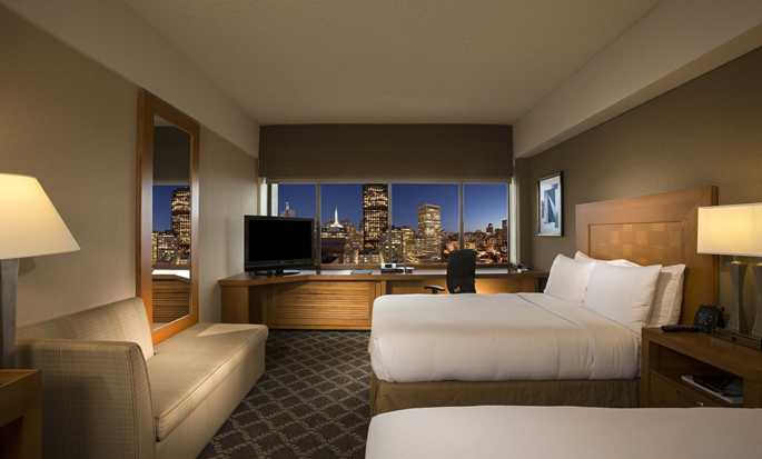 Hilton San Francisco Financial District hotel - Executive room with two beds