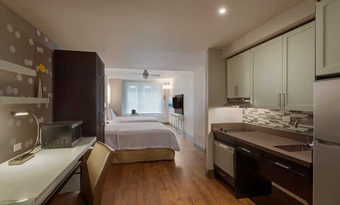 Homewood Suites by Hilton New York/Midtown Manhattan Times Square-South, NY, hotel, EUA -  Suíte Queen Studio
